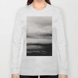 WHITE & BLACK TOUCHING #2 #abstract #decor #art #society6 Long Sleeve T-shirt