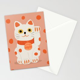 Abstraction_Lucky_Charm_Cat Stationery Cards