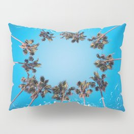 hello summer palm trees design 3 Pillow Sham
