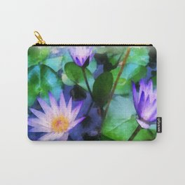 Purple Lotus Carry-All Pouch
