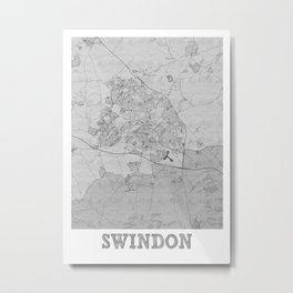 Swindon Pencil City Map Metal Print