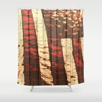 america Shower Curtains featuring America  by Ashley Christie