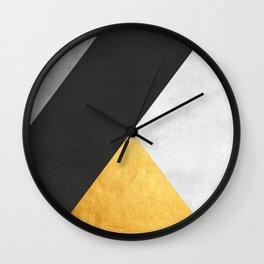 Abstract Golden Art I Wall Clock