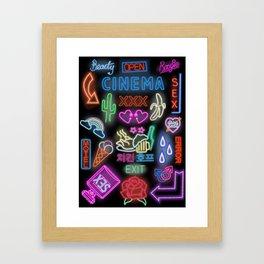 neon party Framed Art Print