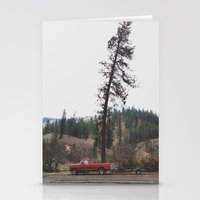 truck Stationery Cards featuring Tree Truck by Kevin Russ