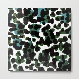 Abstract Green & Blue Metal Print
