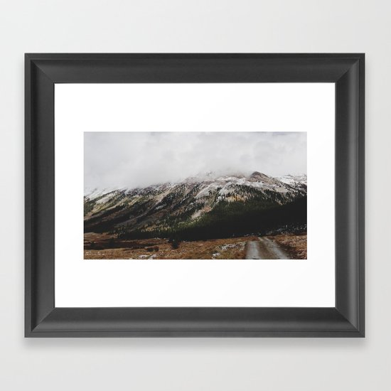 Snowcapped Mountains Framed Art Print