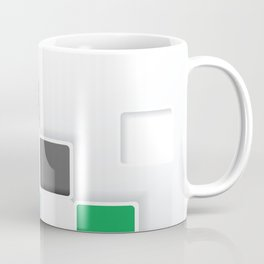 RAINBOW SQUARES ON A WHITE BACKGROUND Abstract Art Coffee Mug