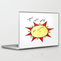 you are my sunshine Laptop & iPad Skins featuring Sunshine  by BriannaCamp