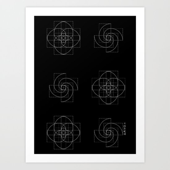 Fibonacci Flowers Pattern Art Print