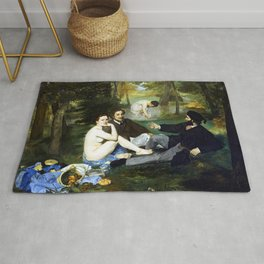 Edouard Manet Luncheon on the Grass Rug