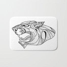 Panther Head Zentagle Bath Mat