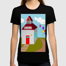 An Ole School House with Balloons T-shirt