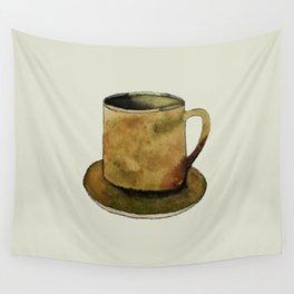 Mug on Plate Wall Tapestry