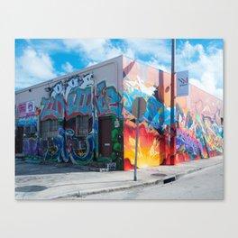 Tattooed Walls form Wynwood Miami Grafitti 2 Canvas Print
