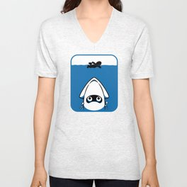 The Great White Blooper Unisex V-Neck