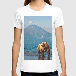 The bear under the volcano T-shirt