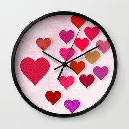 Hearts Galore Wall Clock