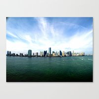 miami Canvas Prints featuring Miami  by JairovPhotolab