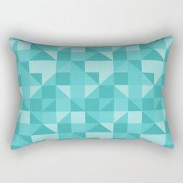 beautiful green geometric figures in the shape of modern triangles Rectangular Pillow