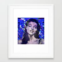 monroe Framed Art Prints featuring Monroe by Saundra Myles