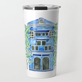 Tropical Blue House Travel Mug