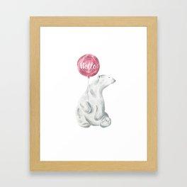 Polar Bear Greetings Framed Art Print