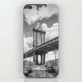 NEW YORK CITY Manhattan Bridge | Monochrome iPhone Skin