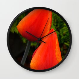 Red Flame Tulip by Teresa Thompson Wall Clock