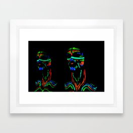 Neon Twins Framed Art Print