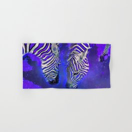 Night Sky Zebra Ultra Violet Hand & Bath Towel