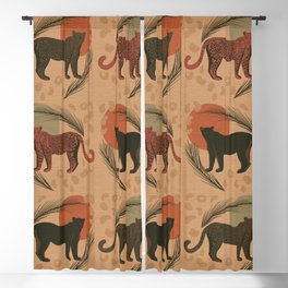 Leopard Sunset Tropical Pattern Blackout Curtain