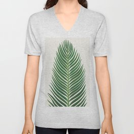 Palm Leaf Unisex V-Neck