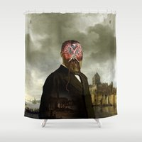 cthulhu Shower Curtains featuring Cthulhu by DIVIDUS