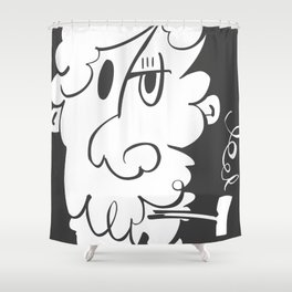 The Doodle Smoker Shower Curtain