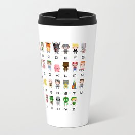 Video Games Pixel Alphabet Travel Mug