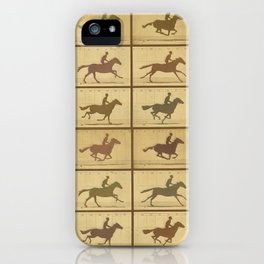 Time Lapse Motion Study Horse muted iPhone Case