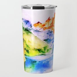 Mountains in Autumn colours Travel Mug