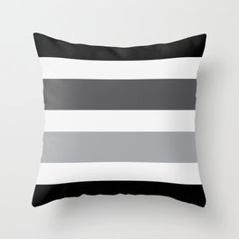 Black Grey Stripes Design Throw Pillow