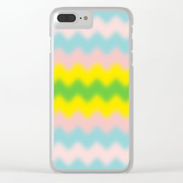 ZigZag-BLUR-BlueRedGreenYellow - Living Hell Clear iPhone Case