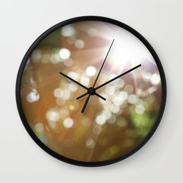 Finding the Light Abstract Photography Wall Clock