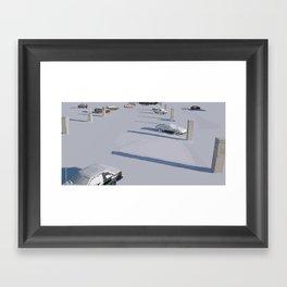 Lonely Shadows Framed Art Print