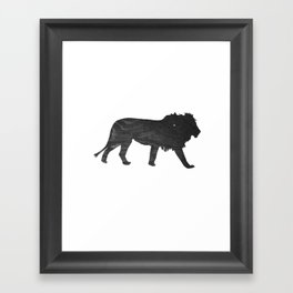Lion (The Living Things Series) Framed Art Print