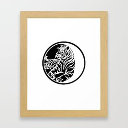 Tiger Tattoo - Black Framed Art Print
