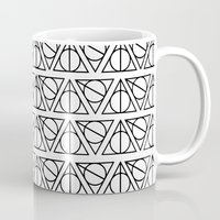 deathly hallows Mugs featuring Deathly Hallows by bookotter