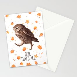 Owl ohh, that's all Stationery Cards