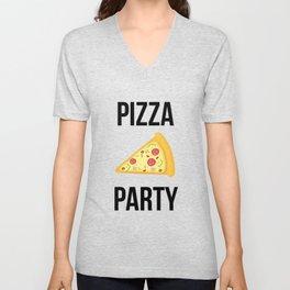 Pizza Party Funny Slice Design Unisex V-Neck