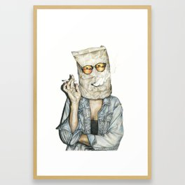 Brown Baggin' It Framed Art Print