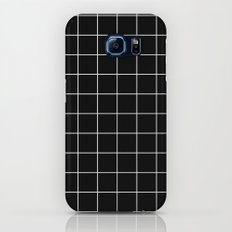Black White Grid Galaxy S7 Slim Case