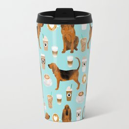 Bloodhound coffee dog pattern dog breed custom gifts for dog lovers bloodhounds Travel Mug